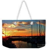 Sunset At Newport Beach Harbor Weekender Tote Bag