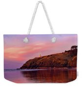 Sunset At North Head Lighthouse Weekender Tote Bag