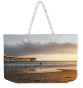 Sunset At Pacific Beach Pier - Crystal Pier - Mission Bay, San Diego, California Weekender Tote Bag