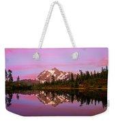 Sunset At Picture Lake Weekender Tote Bag