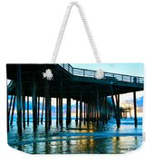 Sunset At Pismo Beach Pier Weekender Tote Bag
