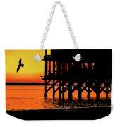 Sunset At Raft With Bird Weekender Tote Bag