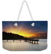 Sunset At Ruston Way Waterfront In Tacoma Weekender Tote Bag