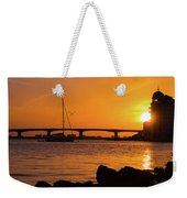 Sunset At Sarasota Bayfront Park Weekender Tote Bag