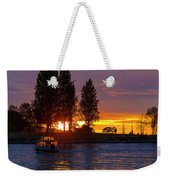 Sunset At Sunset Beach In Vancouver Bc Weekender Tote Bag