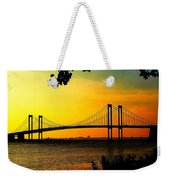 Sunset At The Delaware Memorial Bridge Weekender Tote Bag