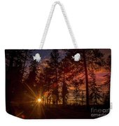 Sunset At The End Of The Hike Weekender Tote Bag