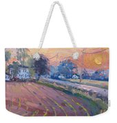 Sunset At The Farm Weekender Tote Bag