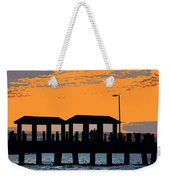 Sunset At The Fishing Pier Weekender Tote Bag