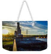 Sunset At The Flood Wall Weekender Tote Bag