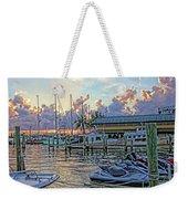 Sunset At The Marina Weekender Tote Bag