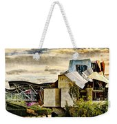 sunset at the marques de riscal Hotel - frank gehry - vintage version Weekender Tote Bag