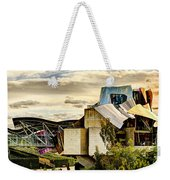 sunset at the marques de riscal Hotel - frank gehry Weekender Tote Bag