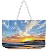 Sunset At The Pismo Beach Pier Weekender Tote Bag