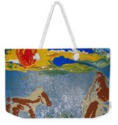 Sunset At The Watering Hole Weekender Tote Bag