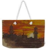 Sunset At Twin Lights Weekender Tote Bag