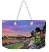 Sunset At Victoria Bc  Inner Harbour Weekender Tote Bag