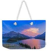 Sunset At Waterton Lakes National Park Weekender Tote Bag