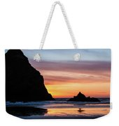Sunset At Whalehead Beach Weekender Tote Bag
