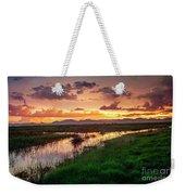 Sunset At Whitewater Draw Weekender Tote Bag