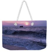 Sunset Beach Nj And Ship Weekender Tote Bag