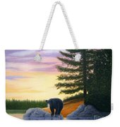 Sunset Bear Weekender Tote Bag by Tracey Goodwin