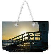 Sunset Behind A Lifeguard Station On Venice Beach Ca Weekender Tote Bag