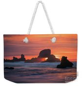 Sunset Behind Arch At Oregon Coast Usa Weekender Tote Bag
