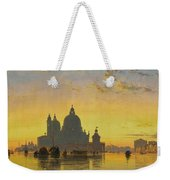 Sunset Behind The Church Of Santa Maria Della Salute Weekender Tote Bag