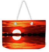 Sunset Behind The Trees At Kempenfelt Bay Two  Weekender Tote Bag
