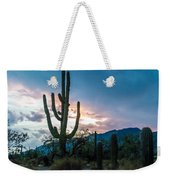 Sunset Beyond The Cacti Weekender Tote Bag
