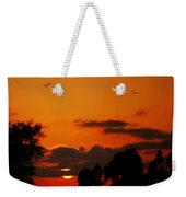 Sunset Birds Weekender Tote Bag