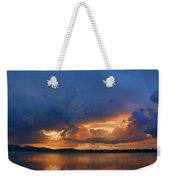 Sunset Blues Weekender Tote Bag