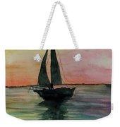 Sunset Boat 1 Weekender Tote Bag