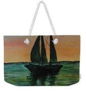Sunset Boat 2 Weekender Tote Bag