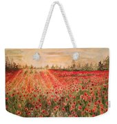 Sunset By The Poppy Fields Weekender Tote Bag