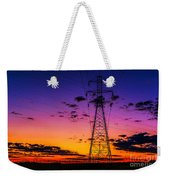 Sunset By The Wires Weekender Tote Bag