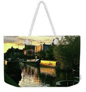 Sunset Canal Reflections Weekender Tote Bag