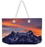 Sunset Clouds At Cerro Paine Grande #3 - Chile Weekender Tote Bag