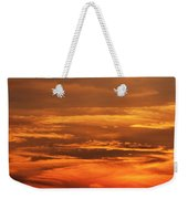 Sunset Clouds On Fire Weekender Tote Bag