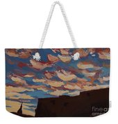 Sunset Clouds Over Santa Fe Weekender Tote Bag by Erin Fickert-Rowland