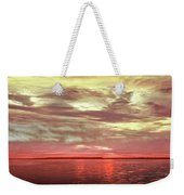Sunset Colors On The Bay Weekender Tote Bag