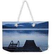 Sunset Dock At Priest Lake Weekender Tote Bag