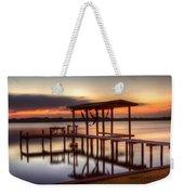 Sunset Dock Weekender Tote Bag