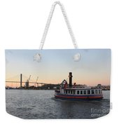 Sunset Ferry In Savannah Weekender Tote Bag