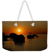 Sunset Fishing Weekender Tote Bag