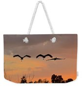 Sunset Fly Over Weekender Tote Bag