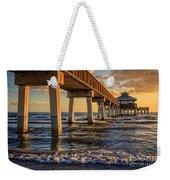 Sunset Fort Myers Beach Fishing Pier Weekender Tote Bag