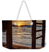 Sunset From Beneath The Pier Weekender Tote Bag