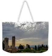 Sunset From San Gimignano Weekender Tote Bag